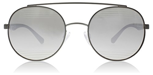 Emporio Armani EA2051 30106G Matte Gunmetal EA2051 Round Sunglasses Lens - Emporio Round Sunglasses Armani