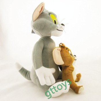 2pcs/set Baby Toys Cat Tom And Jerry Mouse Plush Stuffed Toys Dolls Boneca Pelucia Brinquedos Learning&Education toys For Kids,