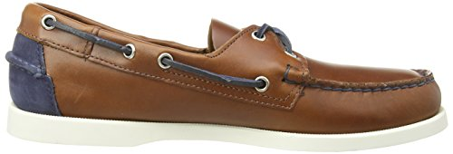 Sebago Men's Spinnaker Boat Shoes Blue (Cognac Lea/Navy) 2qL1eM