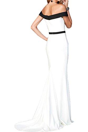 Ausschnitt Ivydressing Etui Promkleid U Abendkleid Liebling Damen Weiß Linie Lang Partykleid Festkleid qRfftg7wx