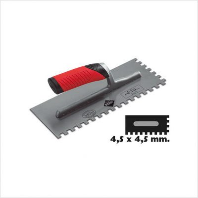 "Rubi Tools Rubi Steel Notched Trowel - 3/16"" x 3/16"" - In..."