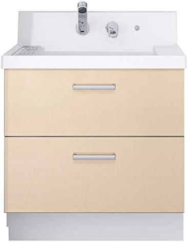イナックス(INAX) 洗面化粧台 K1シリーズ 幅75cm フルスライドタイプ シングルレバーシャワー水栓 K1FH4-755SYN 寒冷地用 シカモアベージュ(YL2H)