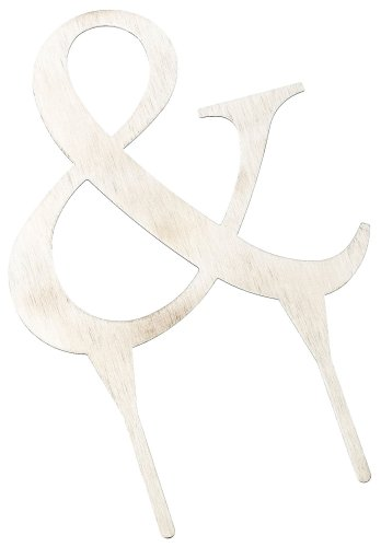 - Weddingstar 4 Inch H Brushed Silver Monogram - & Symbol