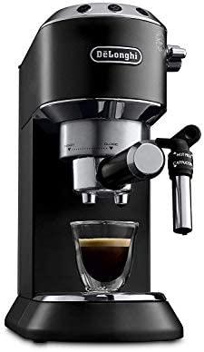 Delonghi Dedica EC685.BK - Cafetera de bomba, acero inoxidable, capuccinatore, depósito 1,3 litros, sistema anti-goteo, café molido o monodosis, ...