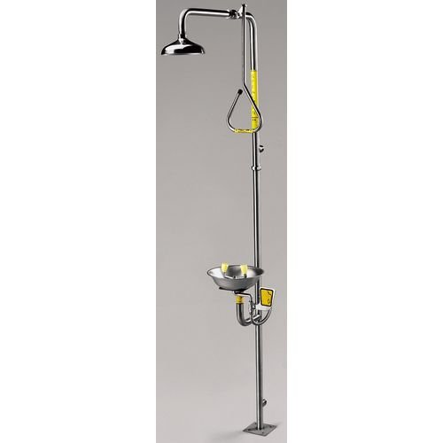 Speakman SE-625 Plastic 100 lb. Capacity Safe-T-Zone Stainless Steel Series Combination Shower, 25.5'' Height x 93.8'' Length x 9'' Width