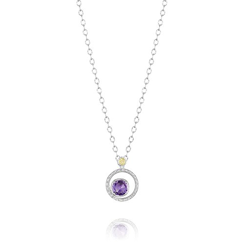 (Tacori SN14001 Sterling Silver Lilac Blossoms Amethyst Bloom Necklace,)
