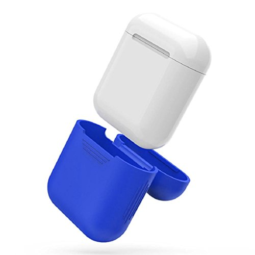 Price comparison product image Case For Apple AirPods Earphones ,Vovomay Silicone Shock Proof Protective Cover Case For Apple AirPods Earphones (Blue)