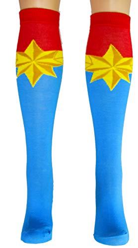Marvel Captain Marvel Uniform Knee High Socks from Marvel