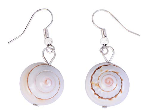 Alilang Sea Snail Spiral Shell Pacific Ocean Island Summer Fashion Earrings