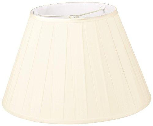 Royal Designs DDS-87-18EG 10 x 18 x 12 Wide Pleat Empire Designer Lamp Shade, Eggshell