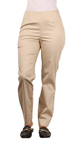 Cotton Sateen Ankle Length Pant - LARRY LEVINE Ladies Sateen Cotton Ankle Length Dress Pant, Khaki, Size 8