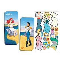Paper Doll Game (Magnetic Paper Dolls Travel Tin - The Little Mermaid, Assorted)