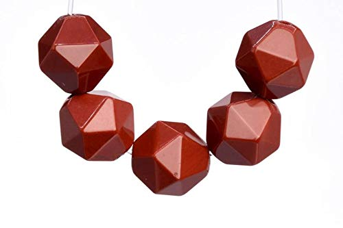 Arts and Crafts 30 Pcs - 5-6MM Red Jasper Beads Grade AAA Star Cut Faceted Genuine Natural Gemstone Loose Beads Making Supplies DIY ()