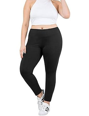 bc3a1c6ed0 Amazon.com: YOGARURU Women's Plus Size Active Yoga Running Workout Legging  Pants (XL-4XL) , Black , X-Large: Clothing