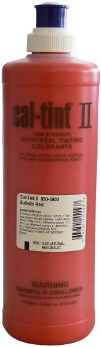 Chromaflo 830-0802 Cal-Tint II 16-Ounce Colorants, Bulletin Red