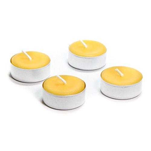 Metal Cups Bluecorn Beeswax 100/% Pure Beeswax Tea Lights