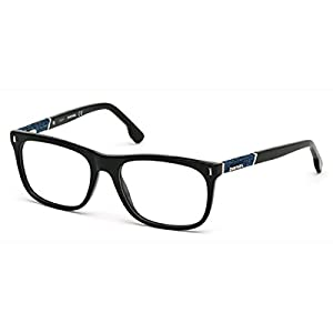DIESEL Eyeglasses DL5157 001 Shiny Black