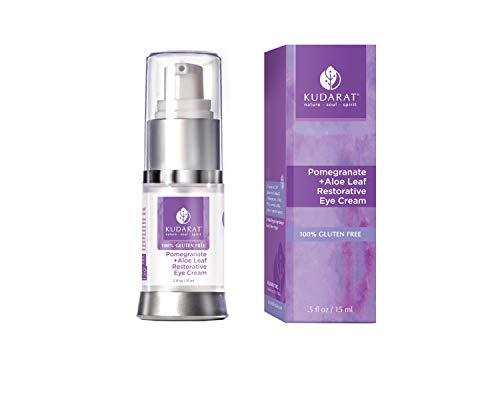 Kudarat Naturally Beautifying Skincare Gluten Free Vegan Pomegranate Plus Aloe Leaf Restorative Eye Cream 0.5 fl oz