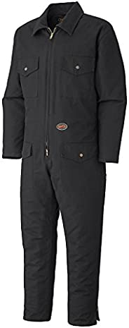 Pioneer Winter Heavy-Duty Insulated Work Coverall, Quilted Cotton Duck Canvas, Hip-to-Ankle Zipper & 6 Poc