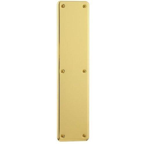 (Baldwin 2110 3-1/2 Inch x 15 Inch Solid Brass Round Corner Push Plate, Satin Nickel)