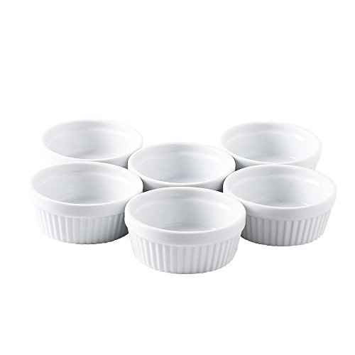 Joohoo 6 oz. Porcelain Ramekins, Set of 6 by Joohoo