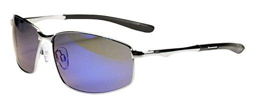JIMARTI P29 POLARIZED Sunglasses Super Light Unbreakable (SILVER & BLUE - Polarized Ratings Sunglasses