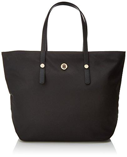 Tommy Hilfiger Women's Tommy City Tote Nylon Shoulder Bag Black
