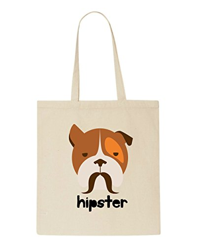 Tote Character Dog1 Quote Style Shopper Text Animal Beige Hipster Bag Vintage wwApaF
