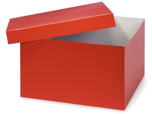 Red Hi-wall 10x10x6'' 100% Recycled Giftware Box Base (Unit Pack - 50) by Better crafts