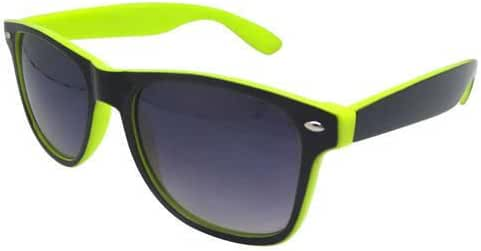 Two-toned Black and Bright Yellow Retro Style Sunglasses