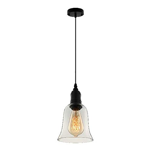 Clear Glass Bell Pendant Lighting in US - 8