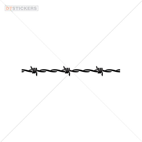 Vinyl Sticker Decals Barbed wire Sports Bike (10 X 1,04 In. ) Vinyl color Black