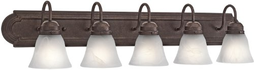 36 Inch Strip Fixture - Kichler 5339TZ Bath 5-Light, Tannery Bronze