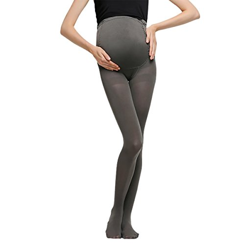 Maternity Compression Tights and leggings - Seamless Full Ankle Length Pregnancy Over Bump with Adjustable Waist Belts