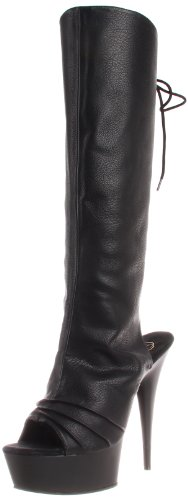 Delight Uk Pleaser Faux Blk eu 10 43 blk Leather 2018 dHFnrY7H