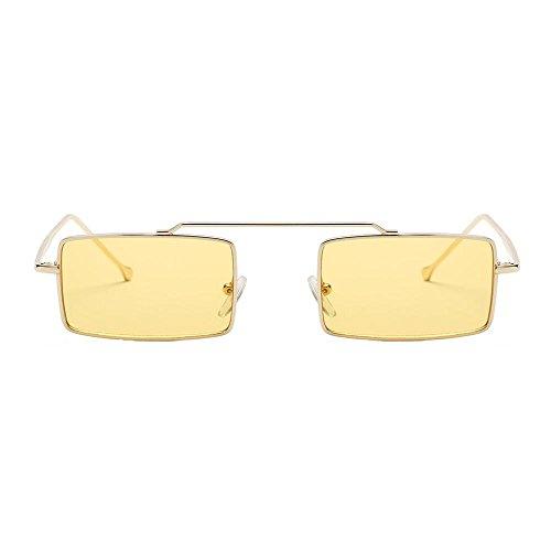 Hunpta Integrado amarillo con Cuadrado Unisex Verde Sol para Marco Gafas de Mujer gnw0qgTx7f