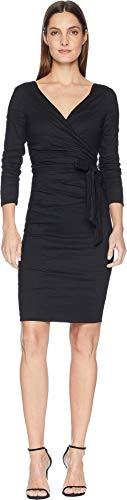 Nicole Miller Women's Wrap Dress Black 8