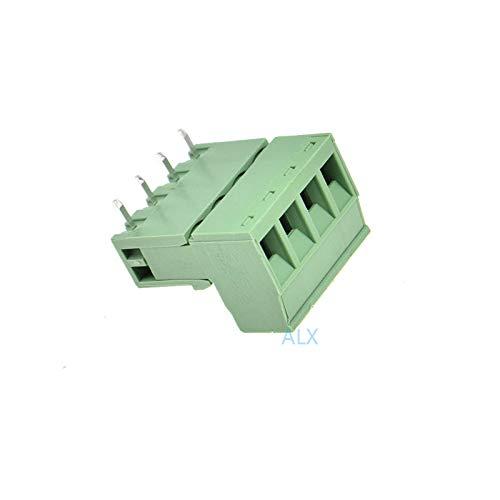 10SETS 2EDG 4pin 5.08MM Pitch Right Angle pluggable Screw Terminal Block 5.08 4 pin Plug Type PCB Connector Plug Socket 300v