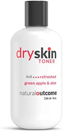 Green Apple & Aloe Vera Dry Skin Mild Facial Toner ▏Natural Outcome Skincare ▏Gentle Hydrating Cleansing Water - 8 oz