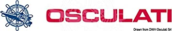 Osculati Contagiri 0-4000 RPM Nero//lucida Revolution Counter 0-4000 RPM Black//Glossy