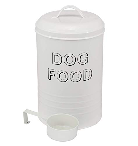 Dog Food Container – Pets Good Dog Food Storage Canister, 4lbs Capacity – Scoop Included