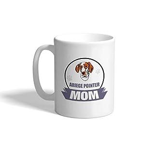 Custom Funny Coffee Mug Coffee Cup Mom Ariege Pointer Dog White Ceramic Tea Cup 11 OZ Design Only 11