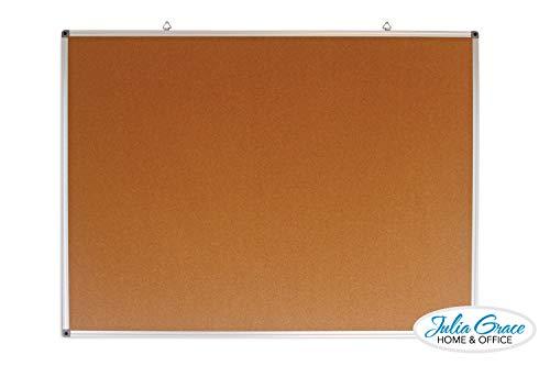 Large Cork Board 48 x 36 inches | Silver Aluminium Frame Bulletin Board | Wall Mounted Notice Board | Full Warranty by JG Home & Office