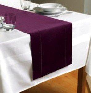 Merveilleux Plain Purple/Plum Table Runner 70u0026quot; X 12u0026quot; ...