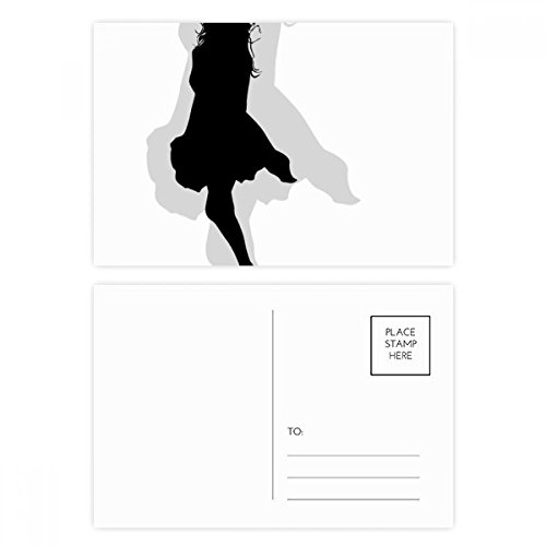 Hot Beautiful Woman Skirt Silhouette Postcard Set Birthday Thanks Card Mailing Side 20pcs by DIYthinker