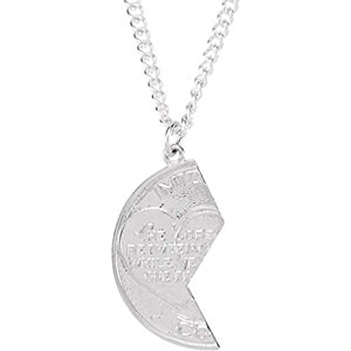 26.00x14.00 mm Left Miz Pah Coin Pendant in 14K White Gold