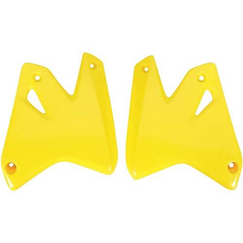 (UFO Plastics Radiator Cover Yellow for Suzuki DRZ400 00-09)