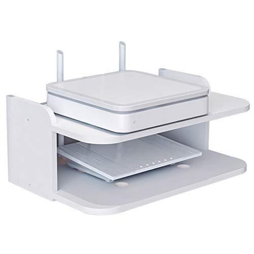 (GAIXIA Wall-Mounted Float Bracket/Bracket/Bracket for WiFi Router TV Box Set-top Box Speaker Streaming Device Game Console Wall Mount Shelf)