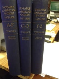 Notable American Women 1607-1950; A Biographical Dictionary (3 Vols.)