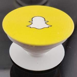 Snapchat Logo Printed Pop Up Holder, Grip Holder, Mount: Amazon in